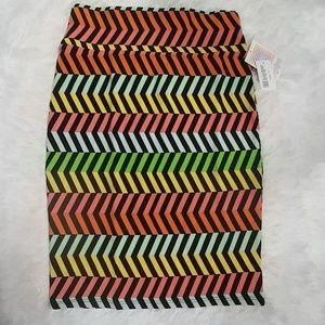NWT LuLaRoe Bright Stripes Cassie Pencil S…